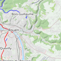 Interactive Map of Rouen - Search Touristic Sights. Hiking and ...