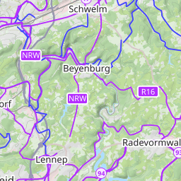 Interactive Map of Wuppertal Search Touristic Sights Hiking and
