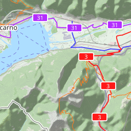 Interactive Map of Locarno - Search Touristic Sights. Hiking and ...