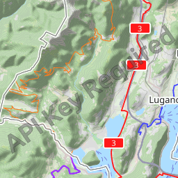 Interactive Map of Lugano Search Touristic Sights Hiking and