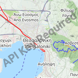 Interactive Map of Thessaloniki Search Touristic Sights Hiking