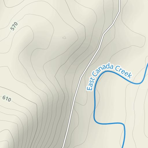 West Canada Creek Shanty Location Map Morehouse Ny West Branch East Canada Creek Topo Map, Hamilton County NY