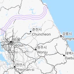 Interactive Map of South Korea - Search Landmarks | Hiking and ...